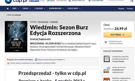 """Wyłącznie w CDP.PL - """"Sezon Burz"""" Andrzeja Sapkowskiego"""