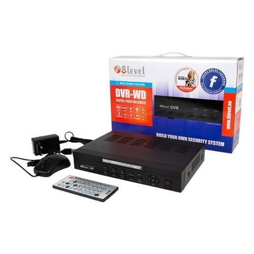 8level 4-o kanałowy rejestrator analogowy DVR 960H DVR-WD-041-01 SATA