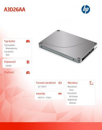 HP 256GB SATA SSD A3D26AA