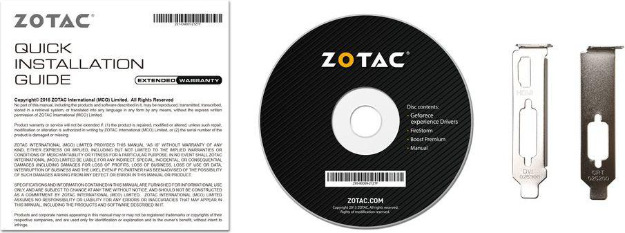 Zotac GT 710 ZONE Edition 2GB DDR5 (64 bit), DVI-D, HDMI, VGA, BOX