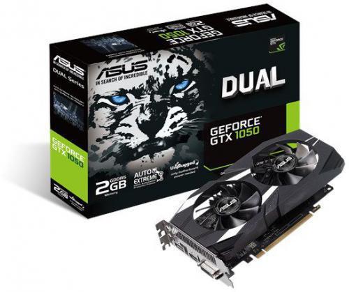 Asus GeForce GTX 1050 Dual V2 2GB GDDR5 (128 bit), DVI-D, HDMI, DisplayPort, BOX (DUAL-GTX1050-2G-V2)
