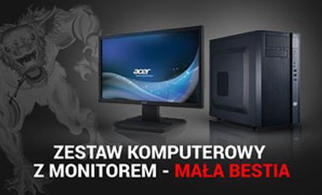 Zestaw Komputerowy Z Monitorem - Mała Bestia