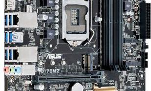 Asus Q170M2, Q170, DDR4-2133, SATA3, M.2, 2xDVI, DP, mATX