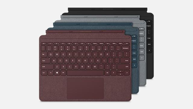 Microsoft Surface Go - kolory klawiatury