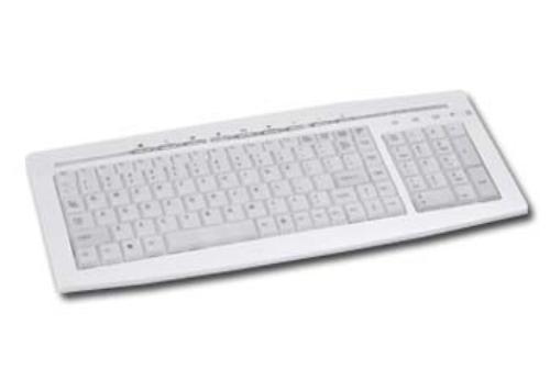 GEMBIRD Klawiatura Multimedialna Podświetlana USB (KB-9835LU) Srebrna