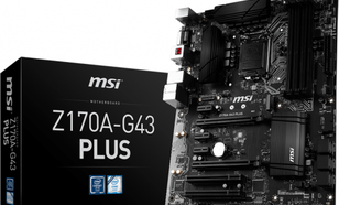 MSI Z170A-G43 PLUS, Z170, DDR4, USB3.1, SATA 3, HDMI, DVI, ATX