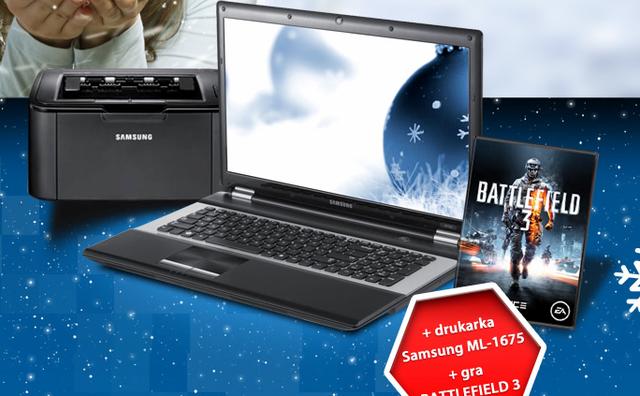 Notebook Samsung RC730 – teraz w zestawie z drukarką laserową Samsung ML-1675 oraz grą Battlefield 3