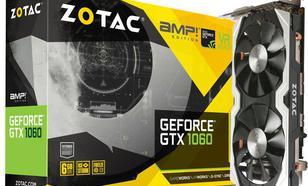 Zotac GeForce GTX 1060 AMP! 6GB GDDR5 (192 Bit) 3xDP, HDMI, DVI. BOX (ZT-P10600B-10M)