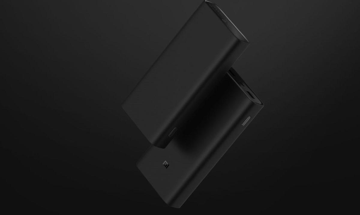 Powerbank Xiaomi 3 Pro na czarnym tle