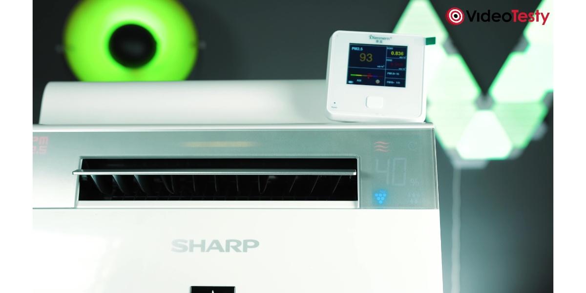 SHARP KI-G75EUW - pomiary PM 2.5