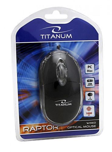 TITANUM MYSZ TM102K RAPTOR PRZEWODOWA USB