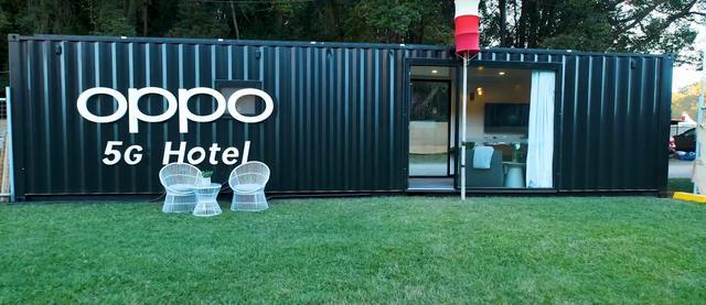 Hotel 5G od Oppo zaaranżowano w kontenerze