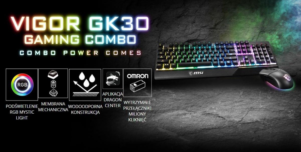 MSI Vigor GK30 Combo grafika producenta