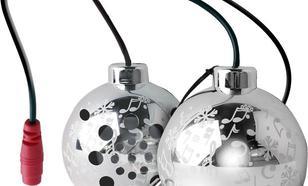 PURO PURO Christmas Ball - Przenośny głośnik (srebrny, Xmas tree pack)