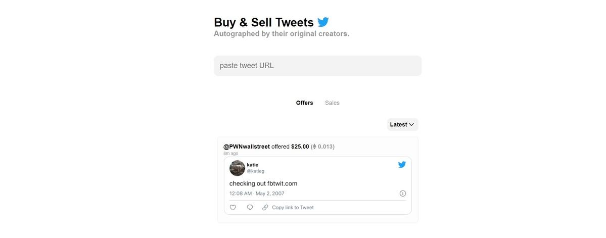 Przedmiotem tokenowania NFT mogą być tweety