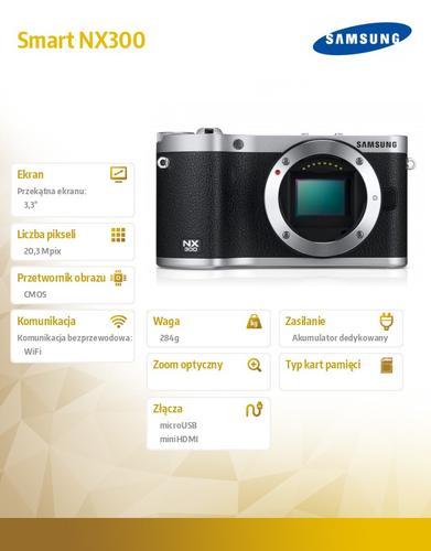Samsung Smart NX300 czarny + 18-55mm