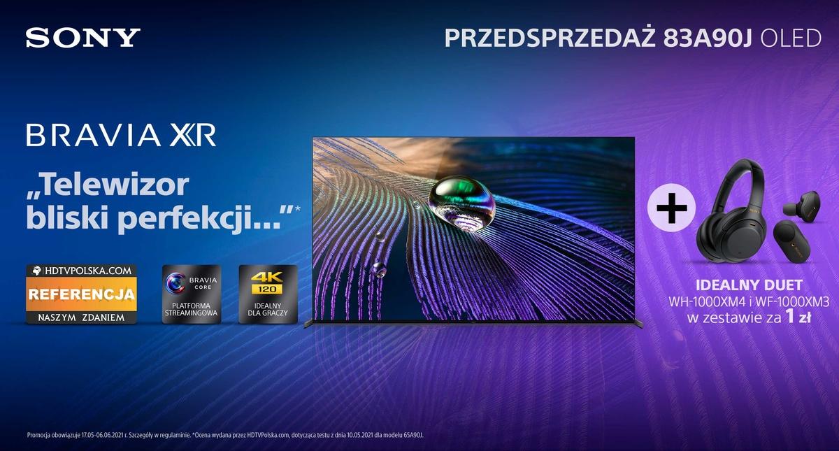 Promocja na Sony Bravia XR Master Series A90J potrwa do początku czerwca