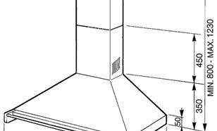 Smeg KD90X-2 okap kominowy
