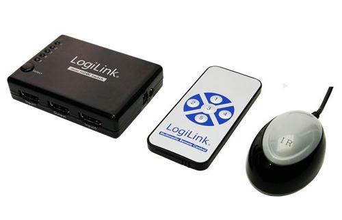 LogiLink Switch HDMI 5port z wzm . i zdalnym sterownaniem