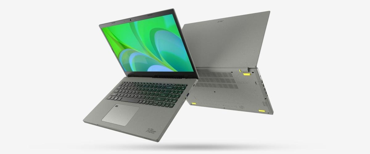 Obudowę Acer Aspire Vero wykonano w całości z recyklowanego tworzywa