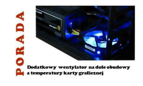 Dodatkowy Wentylator na Dole Obudowy, a Temperatury Karty Graficznej
