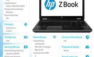 HP ZBook 15'' i7-4700MQ 750+32SSD/4GB/DVR/W78P F0U61EA