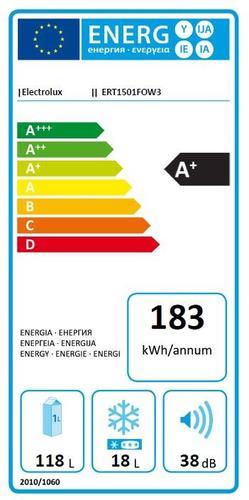 Electrolux Chłodziarko-zamrażarka ERT1501FOW3