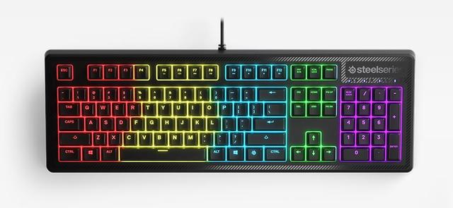 Klawiatura Apex 150 posiada efektowne podświetlenie RGB.