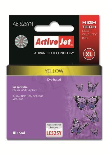 ActiveJet AB-525YN tusz żółty do drukarki Brother (zamiennik Brother LC525Y) Supreme
