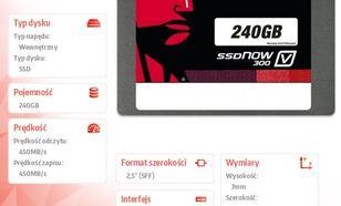 "Kingston V300 SERIES 240GB SATA3 2,5"" 450/450MB/s 7mm"