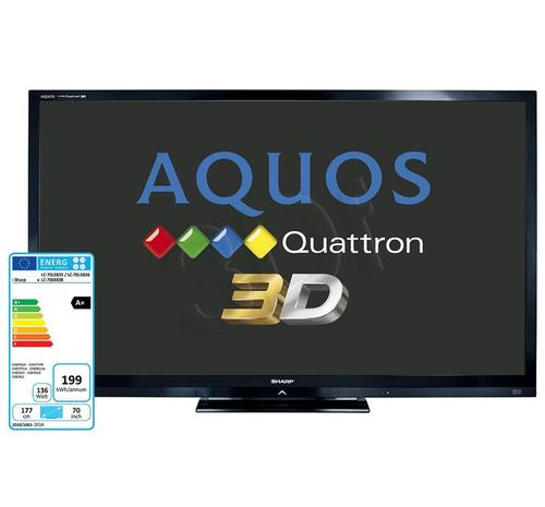 Sharp LC70LE835E (Quattron FullLED,3D)