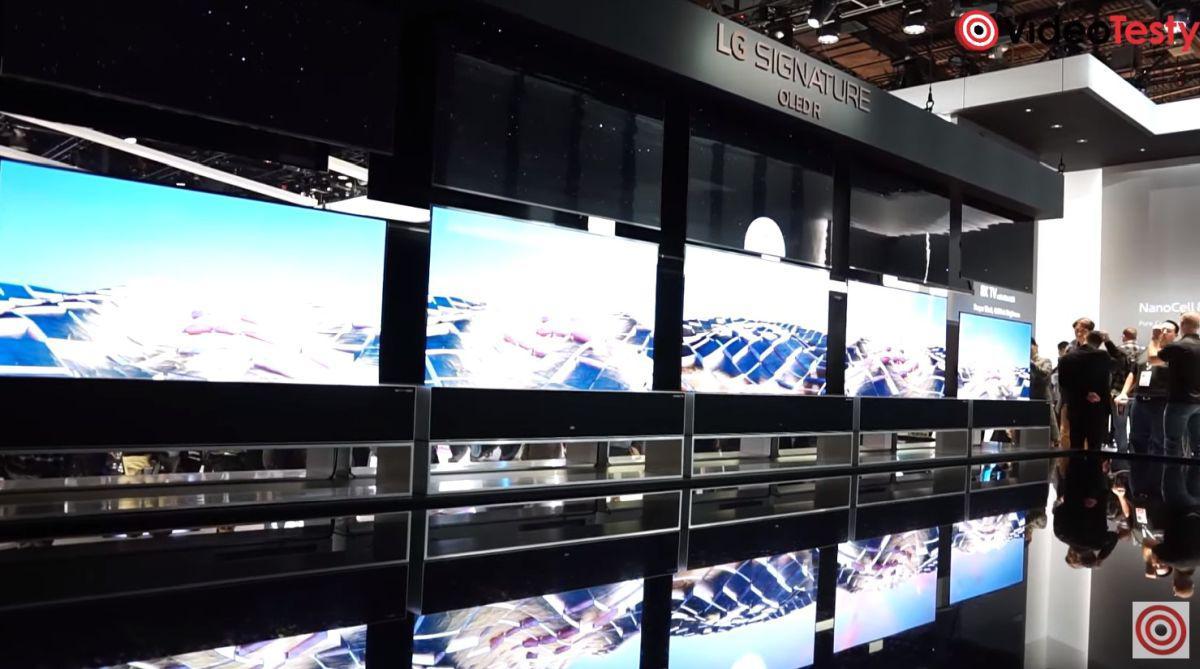 rolowany telewizor OLED R Signature na CES 2020