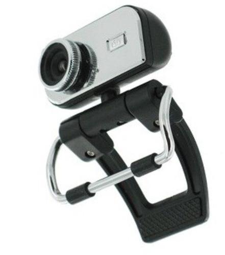 4World Kamera internetowa 1.3MP USB 2.0 z mikrofonem srebrna