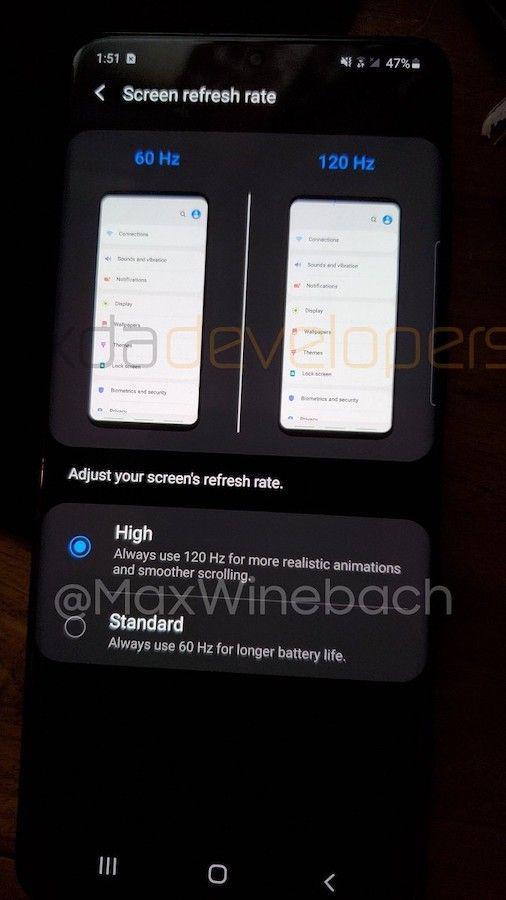 Galaxy S20 otrzyma interfejs obsługujący ekran 120 Hz