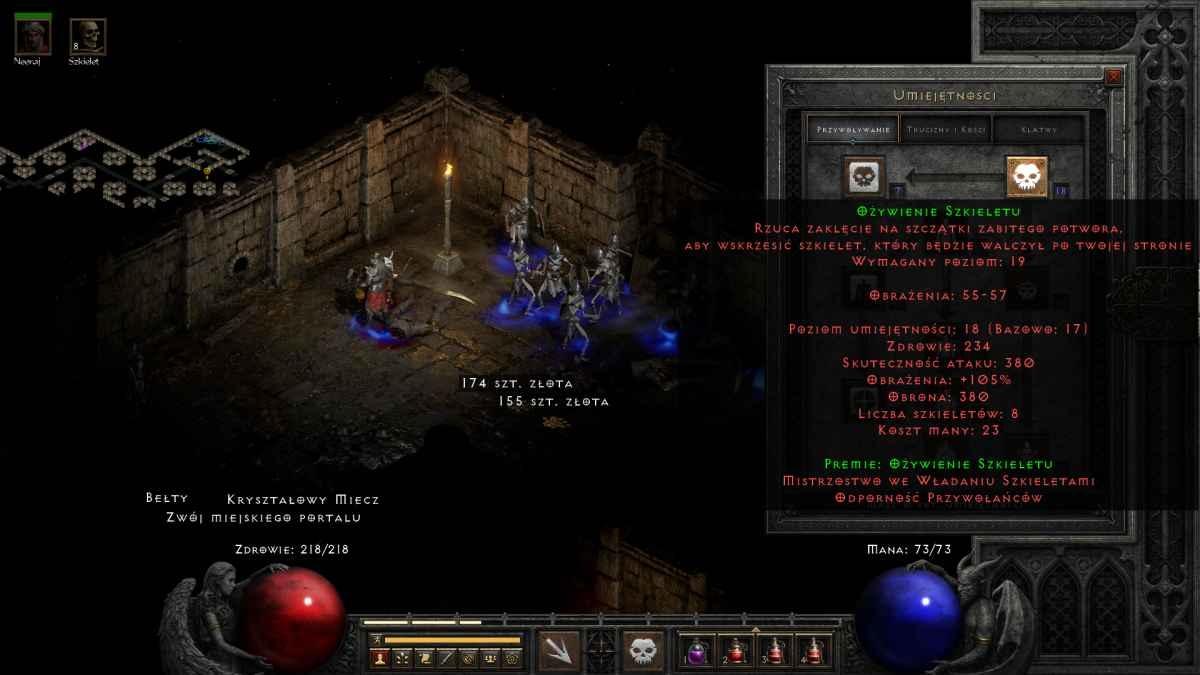 Diablo II: Resurrected - Rozwój bohatera
