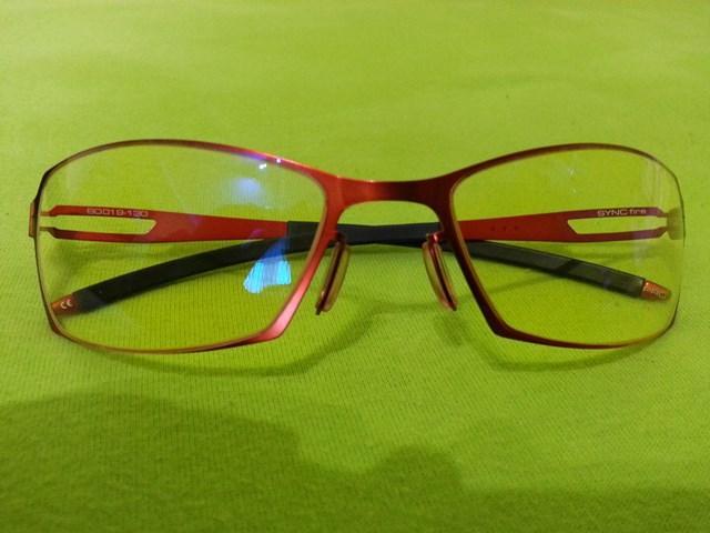 Okulary Gunnar Sync red Fire Amber z przodu