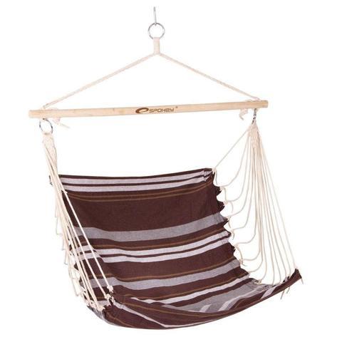 Spokey Bench Coffee (835364) kawowe krzesło hamakowe
