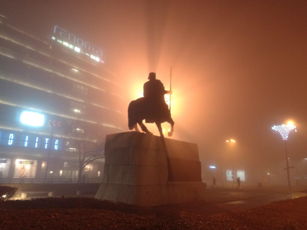 HTC Desire 19+ zdjęcie we mgle