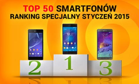 TOP 50 Smartfonów - Ranking Specjalny Styczeń 2015