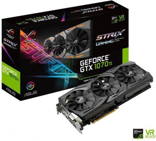 Asus GeForce GTX 1070 Ti Rog Strix 8GB GDDR5 (256 bit) DVI-D, 2xHDMI, 2xDP, BOX (ROG-STRIX-GTX1070TI-8G-GAMING)
