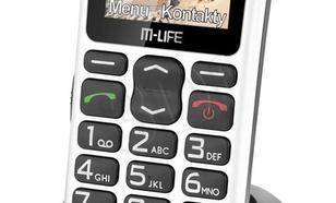 M-LIFE TELEFON KOMÓRKOWY DLA SENIORA BIAŁY KOLOROWY WYŚWIETLACZ
