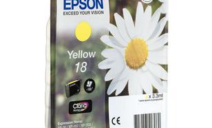EPSON Tusz Żółty T1804=C13T18044010, 180 str., 3.3 ml