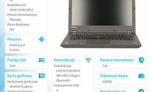 """Lenovo ThinkPad L440 20ASA16FPB W7PR64/Win8.1Pro64 i7-4712MQ/4GB/500GB/HD4600/14.0"""" HD+ AG, Mobile Broadband Ready/1 Yr CI"""