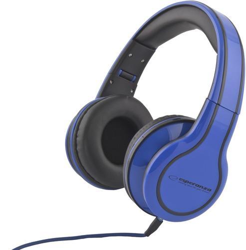 ESPERANZA SŁUCHAWKI AUDIO STEREO Z REGULACJĄ GŁOŚNOŚCI EH136B BLUES NIEBIESKIE