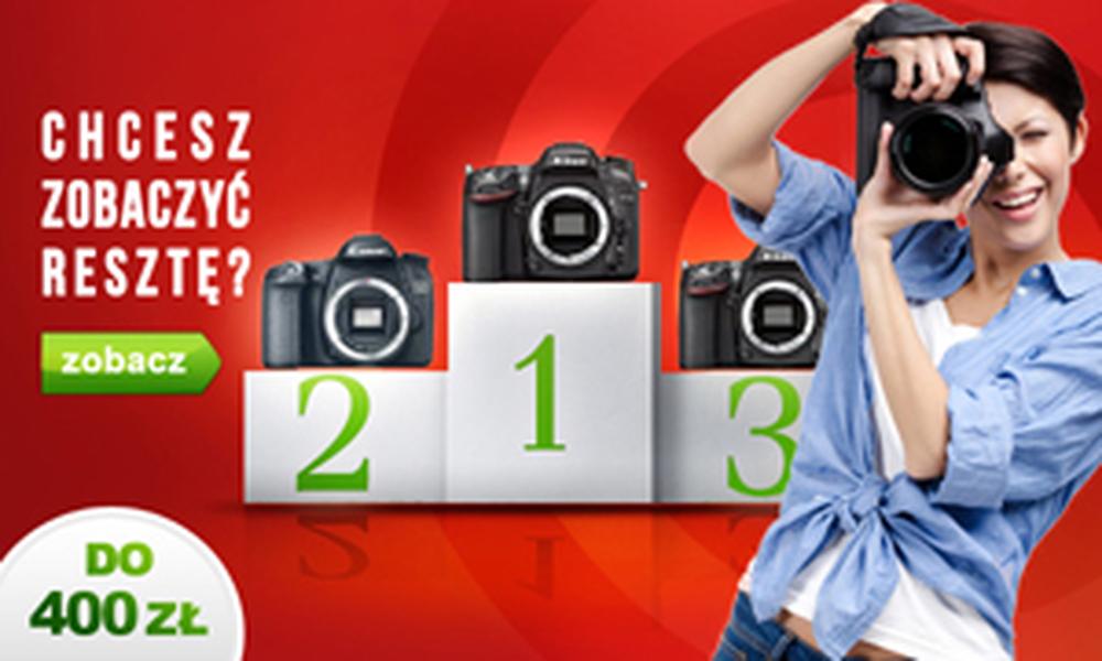 Aparaty Cyfrowe Do 400 zł - TOP 10 Październik 2014