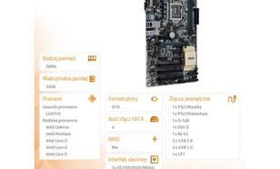 Płyta główna Asus H110-PLUS s1151 H110 DDR4 6USB2.0/DVI-D/DSUB ATX - H110-PLUS ( H110-PLUS )
