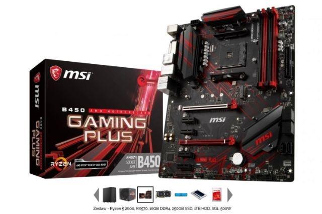 MSI B450 Gaming Plus - płyta główna w komputerze prezent dla gracza