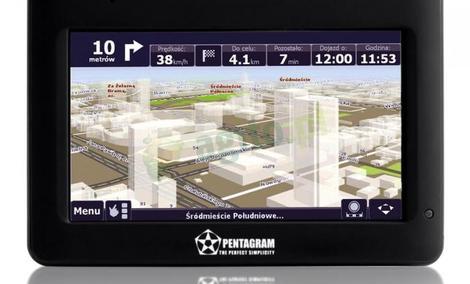 Pentagram Nomad P 5210 - prezentacja możliwości nawigacji GPS