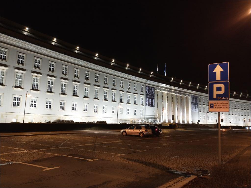 Zdjęcie Urzędu Wojewódzkiego nocą