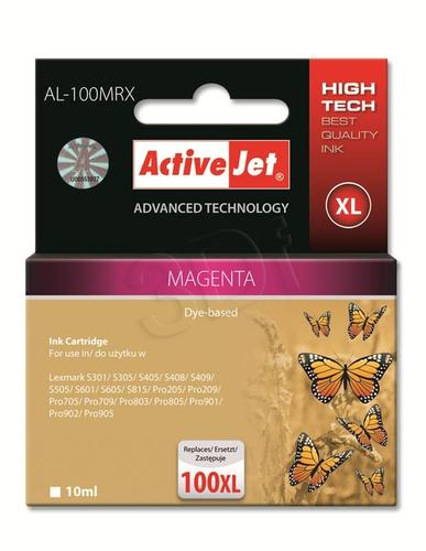 ActiveJet AL-100MRX tusz magenta do drukarki Lexmark (zamiennik Lexmark 100XL 14N1070) Premium